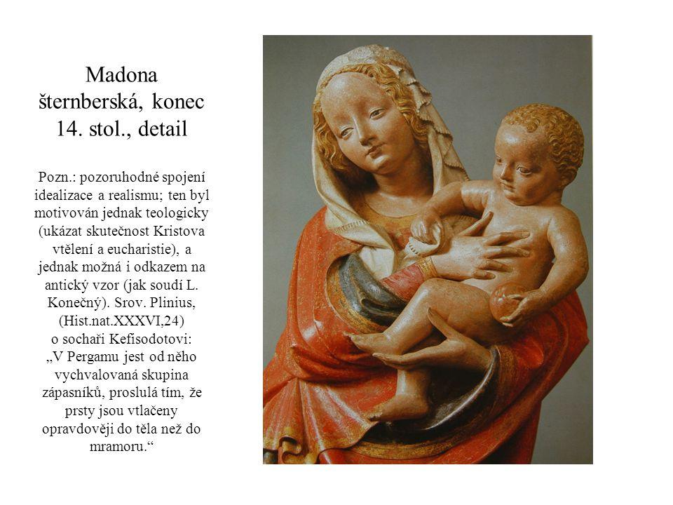 Madona šternberská, konec 14. stol. , detail Pozn