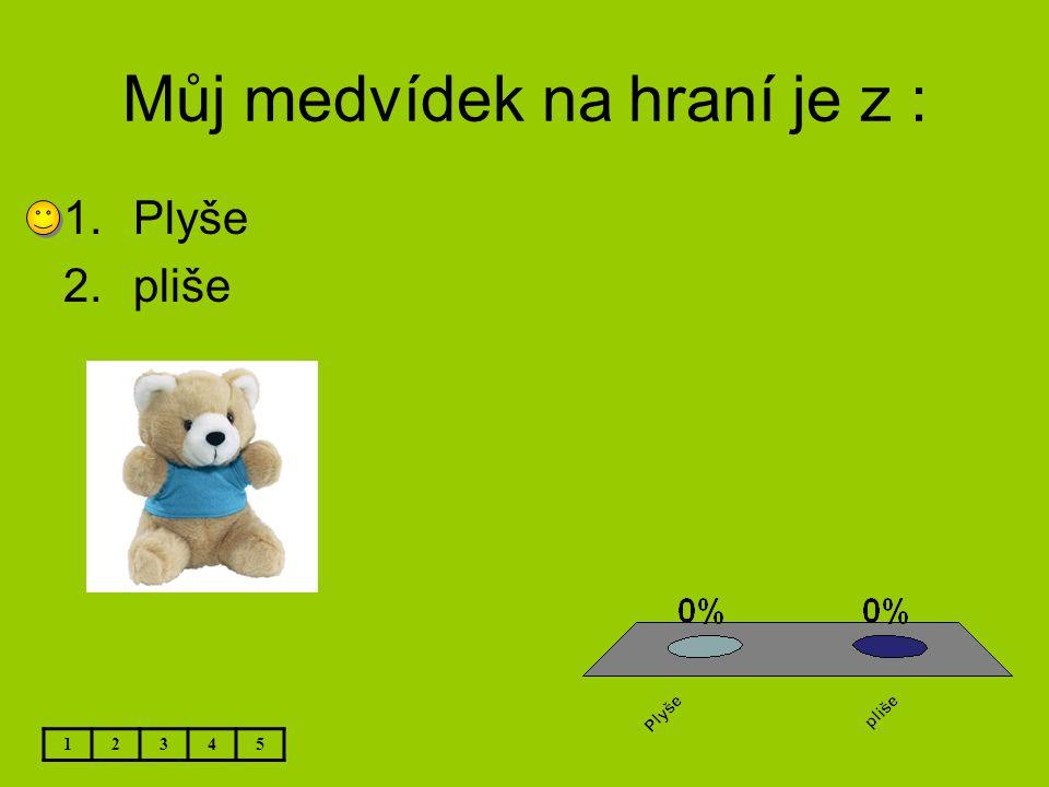 Můj medvídek na hraní je z :