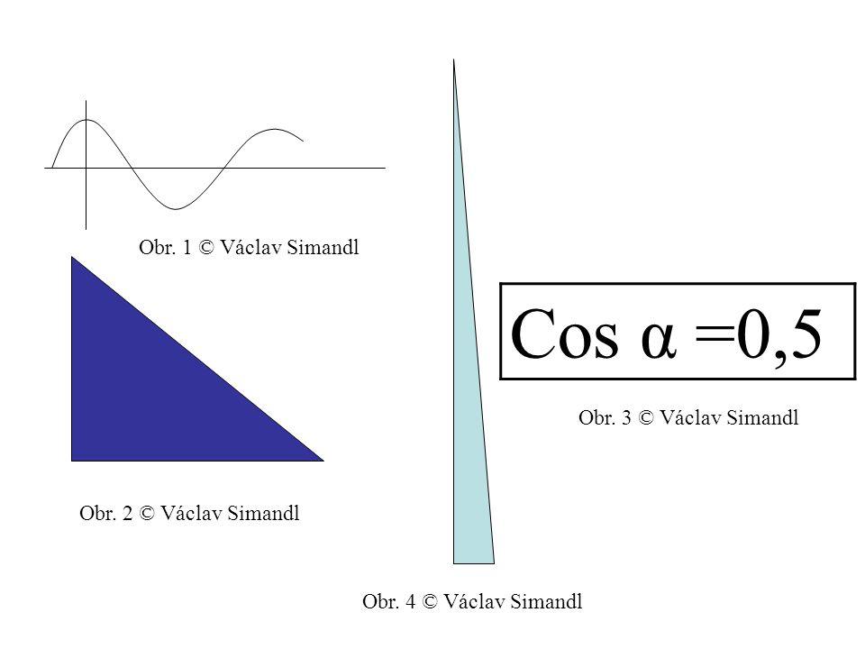 Cos α =0,5 Obr. 1 © Václav Simandl Obr. 3 © Václav Simandl