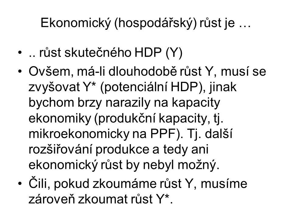 Ekonomický (hospodářský) růst je …