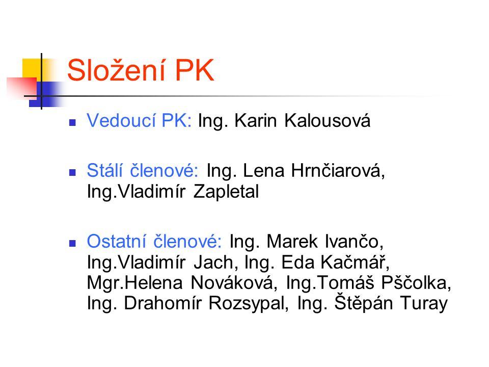 Složení PK Vedoucí PK: Ing. Karin Kalousová