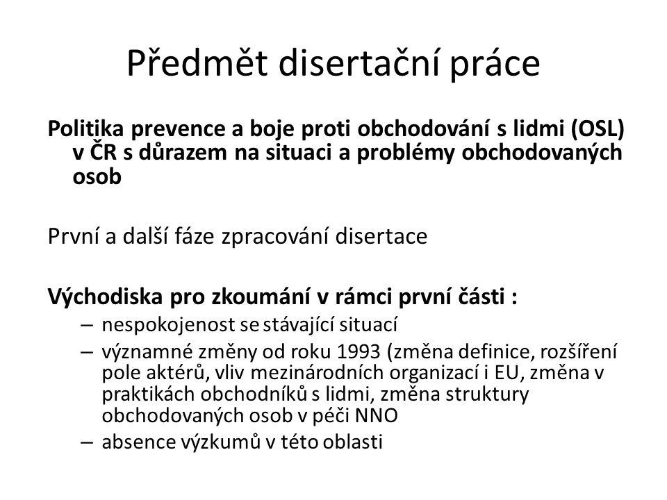 Předmět disertační práce