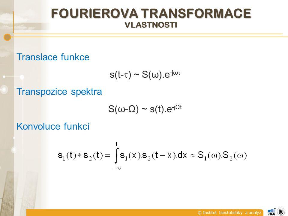 FOURIEROVA TRANSFORMACE vlastnosti