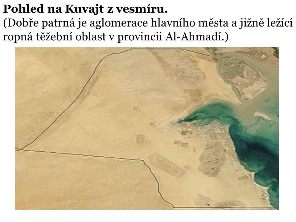 Pohled na Kuvajt z vesmíru.