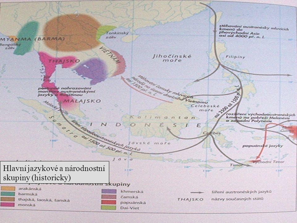 Hlavní jazykové a národnostní skupiny (historicky)