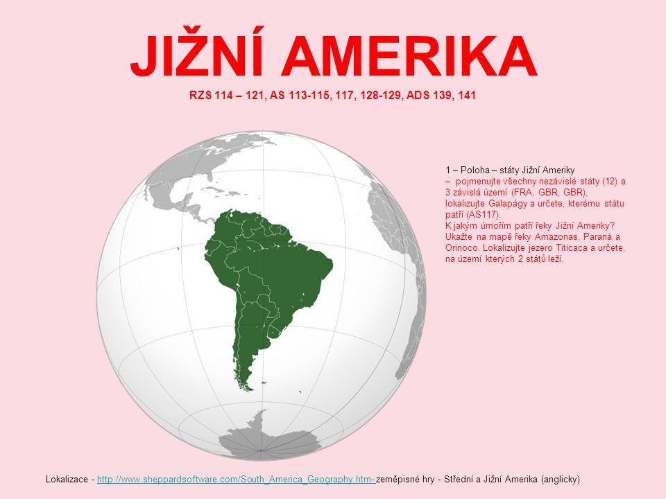 JIŽNÍ AMERIKA RZS 114 – 121, AS 113-115, 117, 128-129, ADS 139, 141