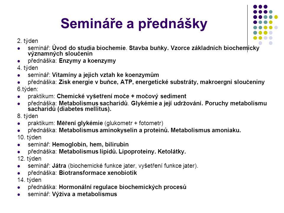 Semináře a přednášky 2. týden