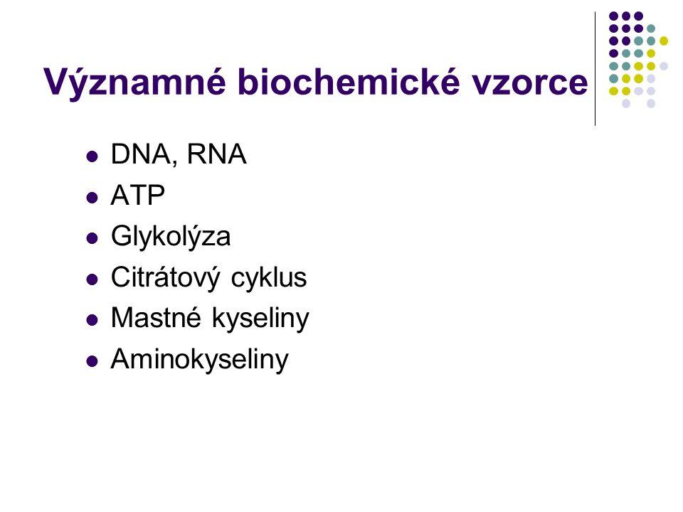 Významné biochemické vzorce
