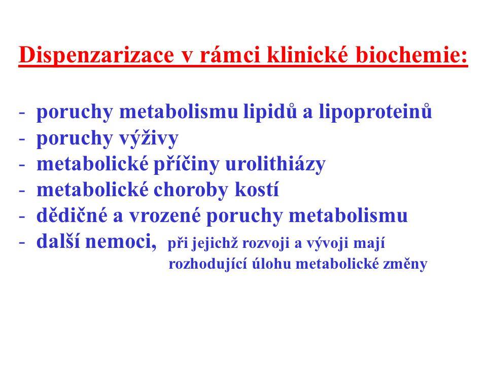 Dispenzarizace v rámci klinické biochemie: