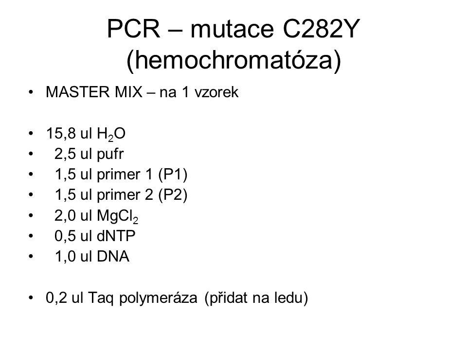 PCR – mutace C282Y (hemochromatóza)