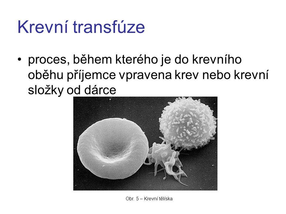 Krevní transfúze proces, během kterého je do krevního oběhu příjemce vpravena krev nebo krevní složky od dárce.