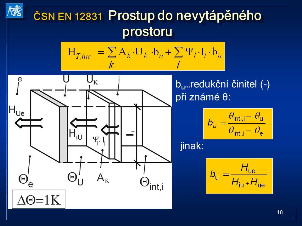 ČSN EN 12831 Prostup do nevytápěného prostoru