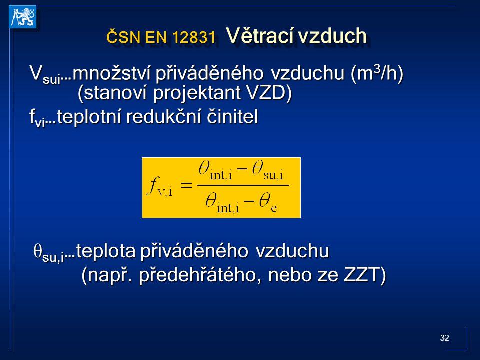 Vsui…množství přiváděného vzduchu (m3/h) (stanoví projektant VZD)