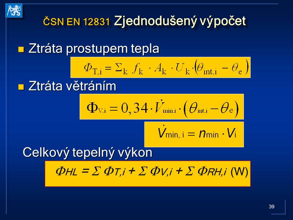 ČSN EN 12831 Zjednodušený výpočet