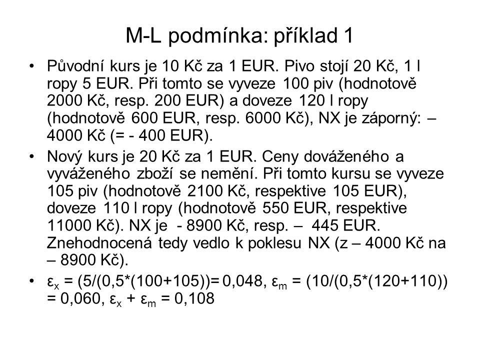 M-L podmínka: příklad 1