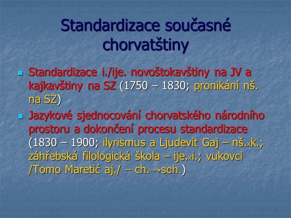 Standardizace současné chorvatštiny
