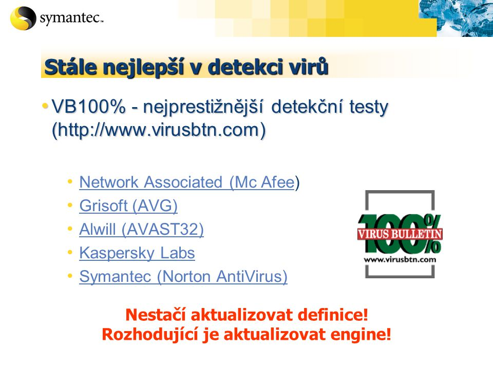 Stále nejlepší v detekci virů