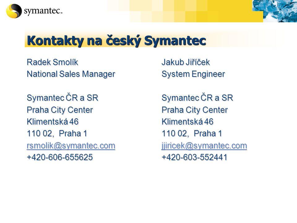 Kontakty na český Symantec