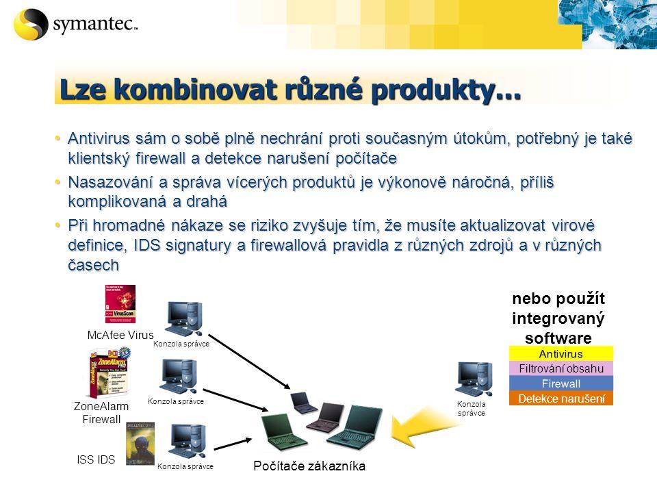 Lze kombinovat různé produkty...