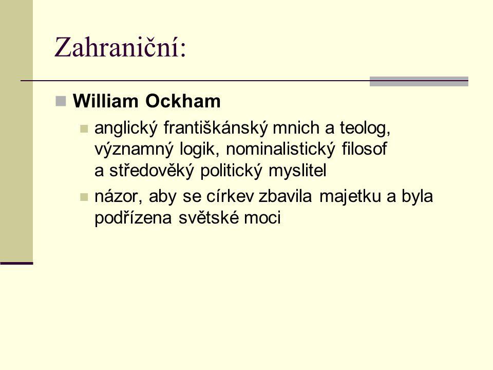 Zahraniční: William Ockham