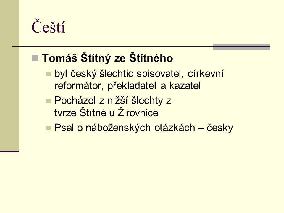 Čeští Tomáš Štítný ze Štítného