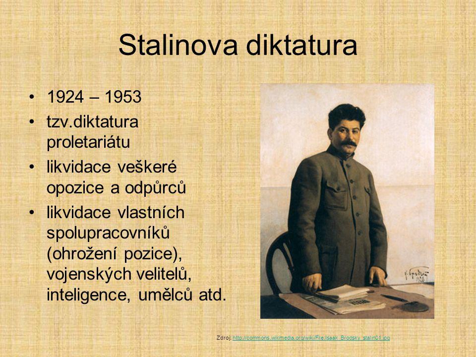 Stalinova diktatura 1924 – 1953 tzv.diktatura proletariátu