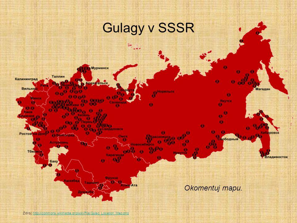 Gulagy v SSSR Okomentuj mapu.