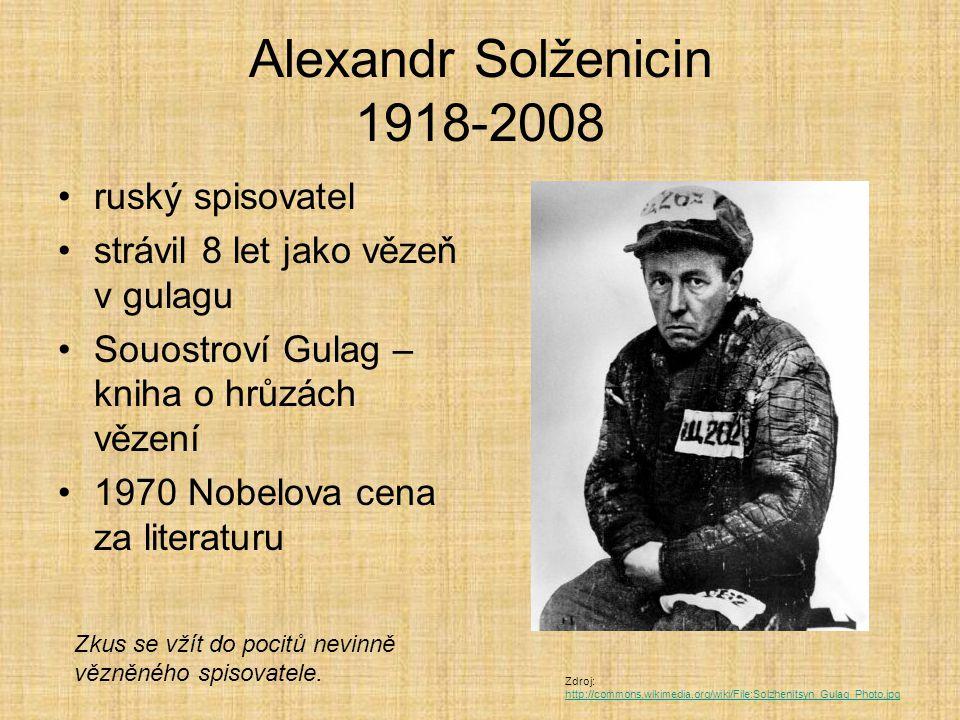 Alexandr Solženicin 1918-2008 ruský spisovatel