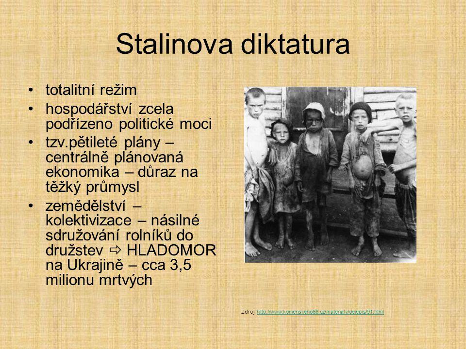 Stalinova diktatura totalitní režim