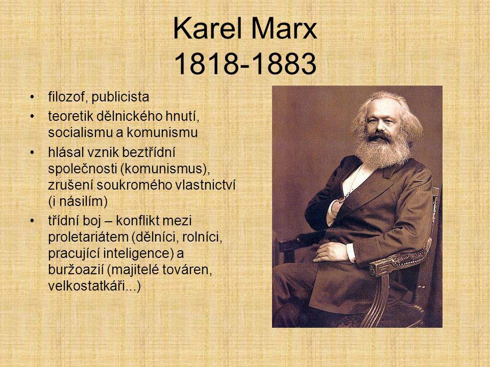 Karel Marx 1818-1883 filozof, publicista