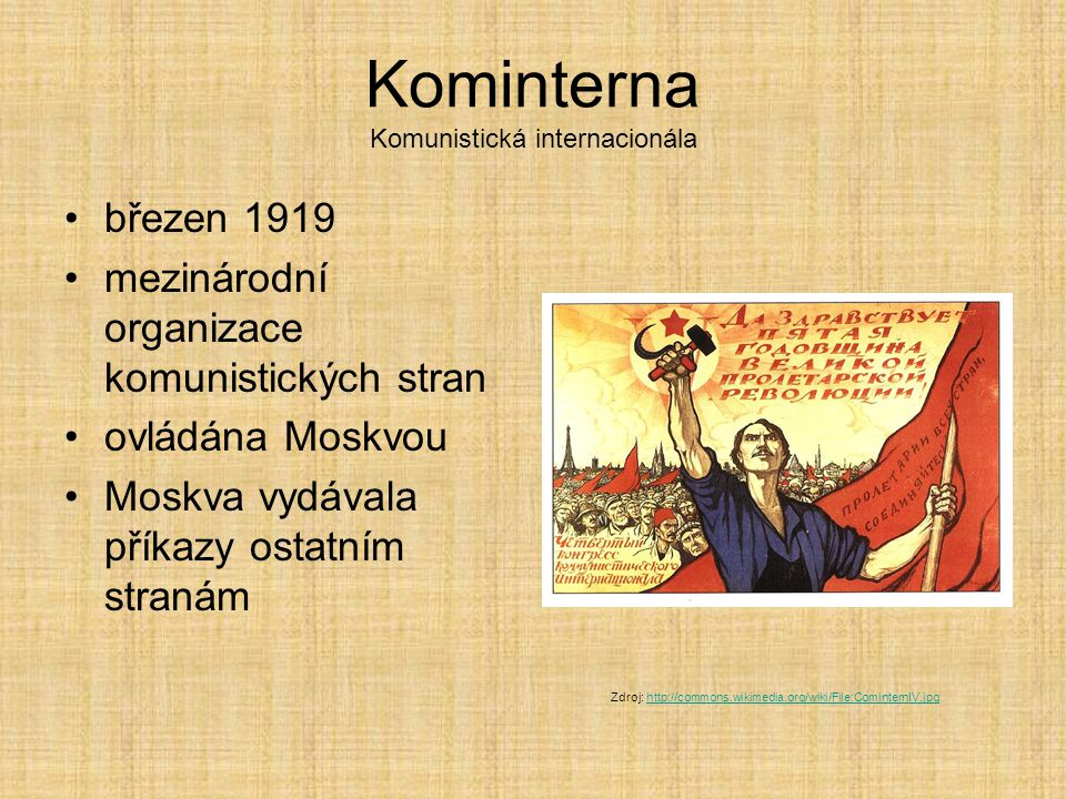 Kominterna Komunistická internacionála