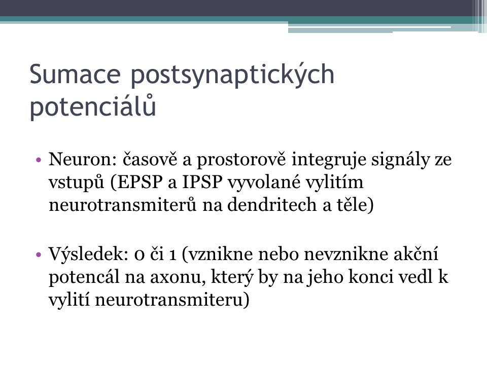 Sumace postsynaptických potenciálů