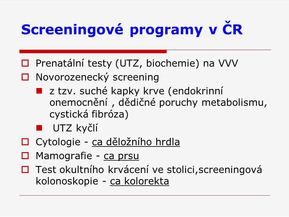 Screeningové programy v ČR