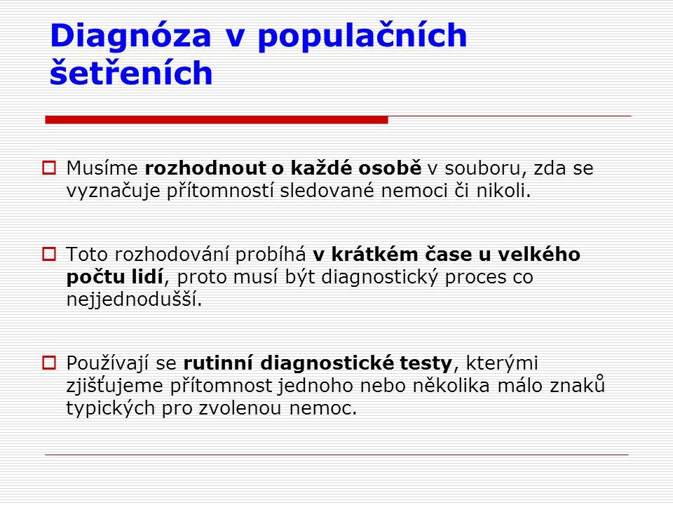 Diagnóza v populačních šetřeních