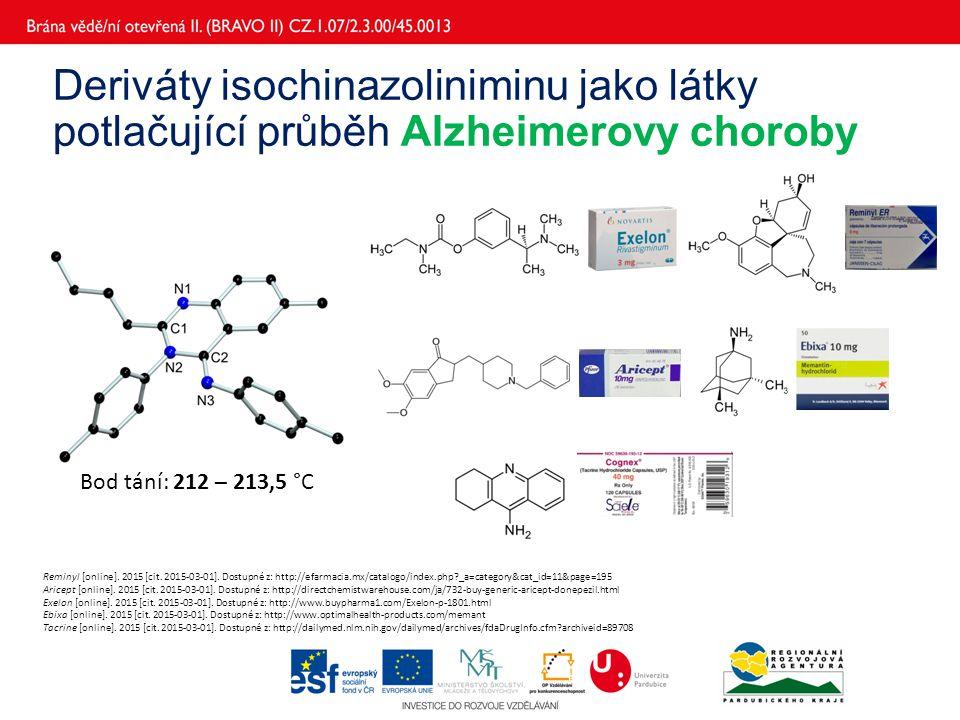 Deriváty isochinazoliniminu jako látky potlačující průběh Alzheimerovy choroby