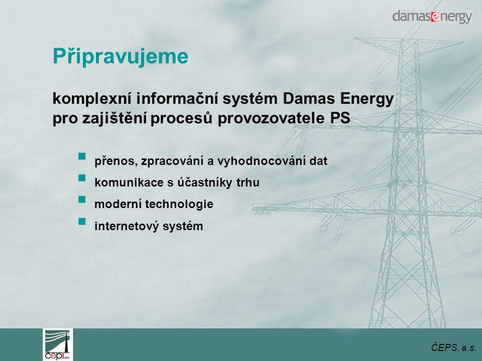 Připravujeme komplexní informační systém Damas Energy