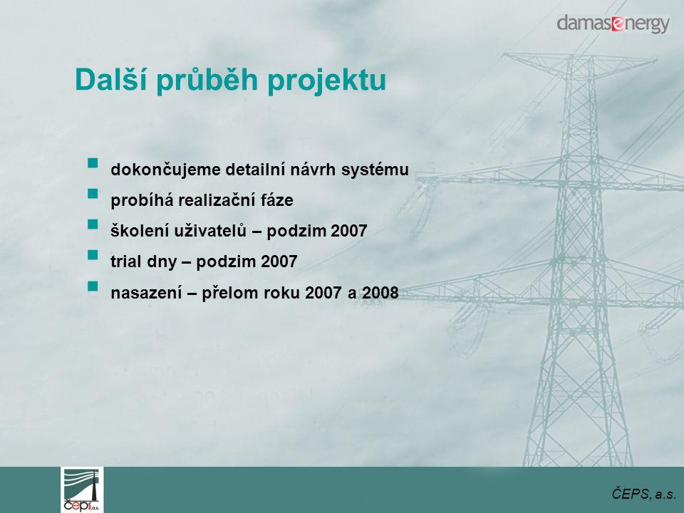 Další průběh projektu dokončujeme detailní návrh systému