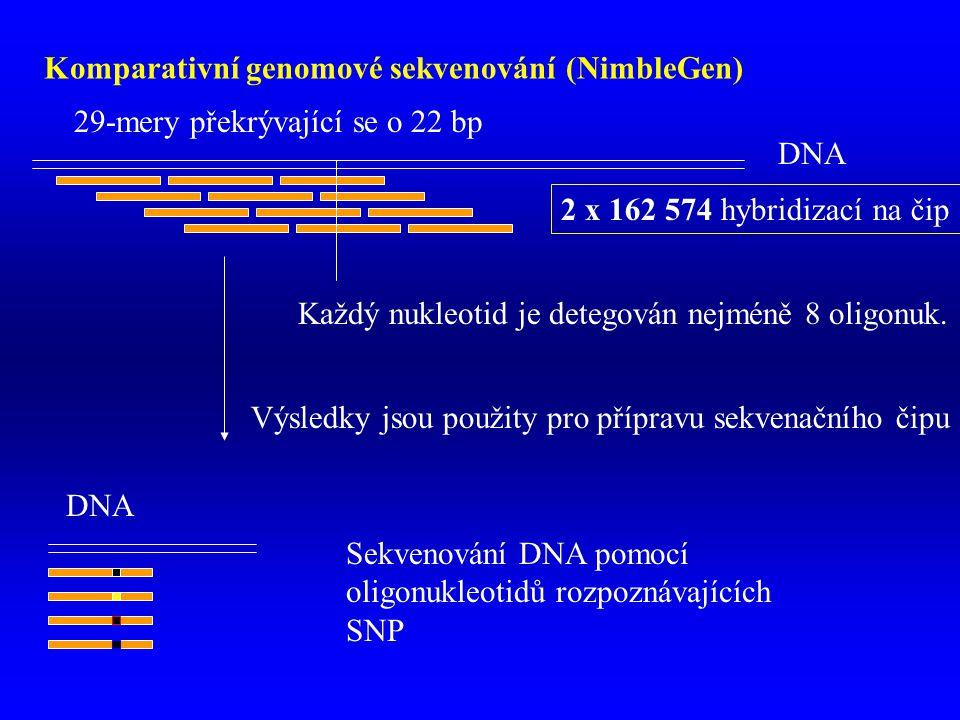 Komparativní genomové sekvenování (NimbleGen)