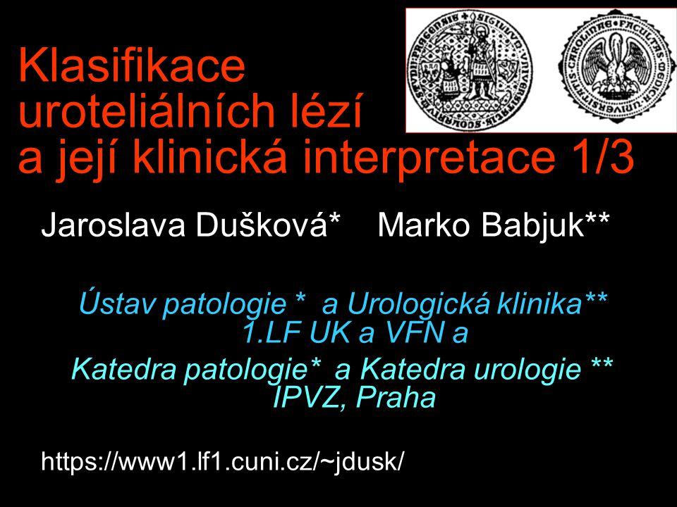 Klasifikace uroteliálních lézí a její klinická interpretace 1/3