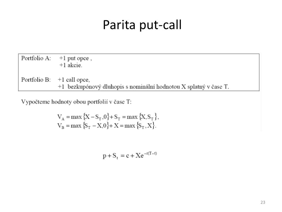 Parita put-call 23