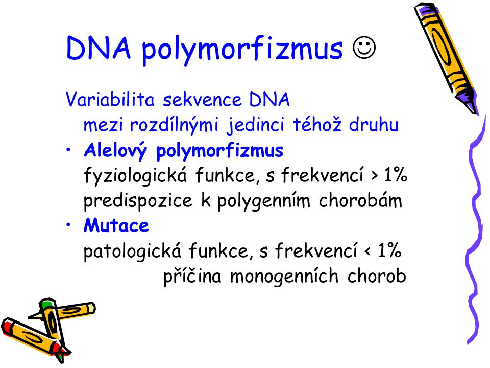 DNA polymorfizmus  Variabilita sekvence DNA
