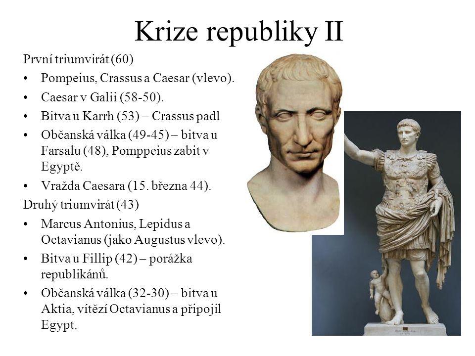 Krize republiky II První triumvirát (60)