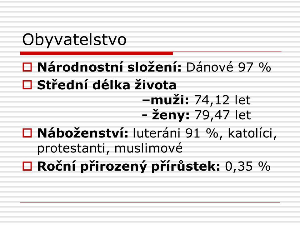 Obyvatelstvo Národnostní složení: Dánové 97 %