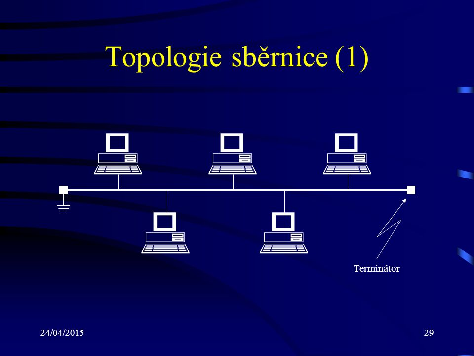 Topologie sběrnice (1) # # # # # Terminátor 14/04/2017