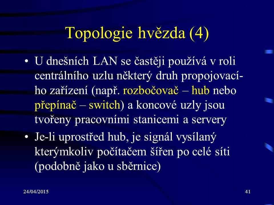 Topologie hvězda (4)