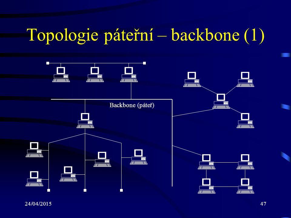 Topologie páteřní – backbone (1)