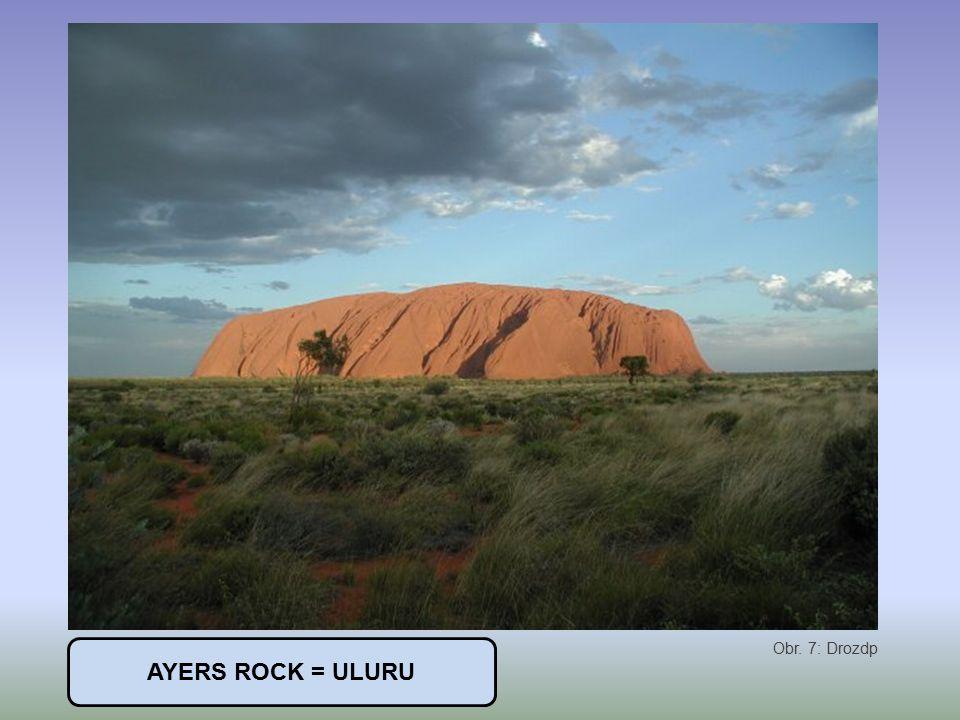 AYERS ROCK = ULURU Obr. 7: Drozdp