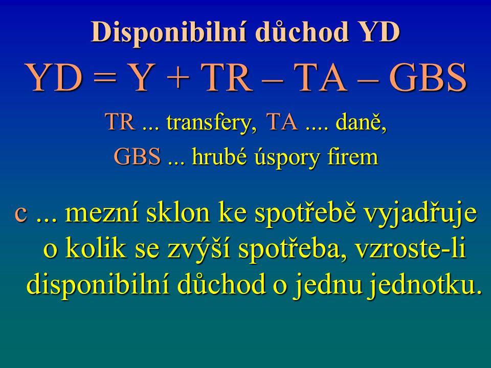 Disponibilní důchod YD