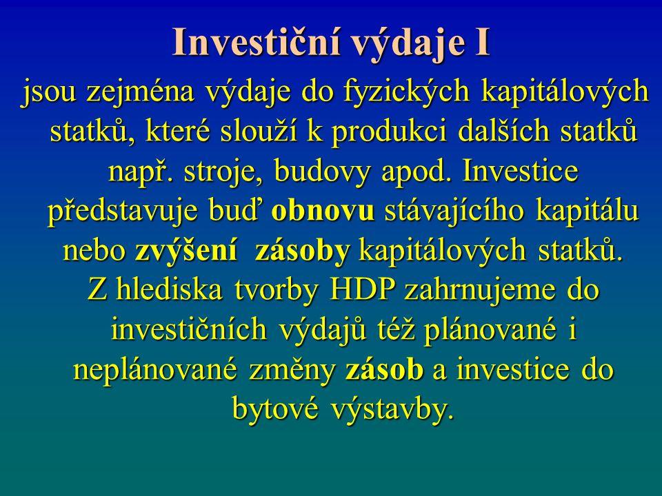 Investiční výdaje I