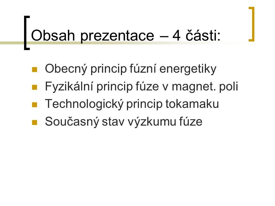 Obsah prezentace – 4 části: